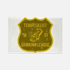 Tenor Saxist Drinking League Rectangle Magnet