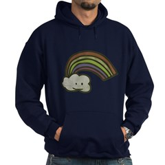 Vintage Smiling Cartoon Rainb Hoodie