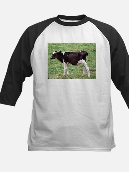 holstein calf Kids Baseball Jersey
