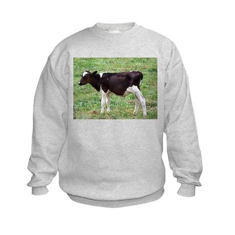 holstein calf Kids Sweatshirt