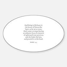 MARK 14:3 Oval Decal