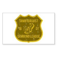 Tambourinist Drinking League Rectangle Stickers