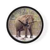African elephant 006 Wall Clocks