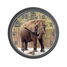 African Elephant 006 Wall Clock