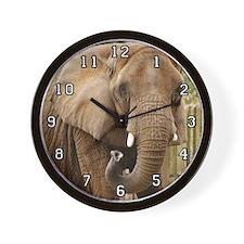 African Elephant 008 Wall Clock