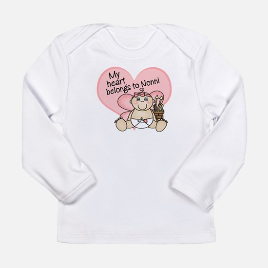 valentine heart belongs to nonni Long Sleeve T-Shi