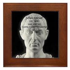 Great Roman: Julius Caesar Framed Tile