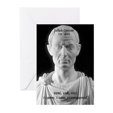 Great Roman Julius Caesar Greeting Cards Package By