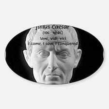 Great Roman: Julius Caesar Oval Decal