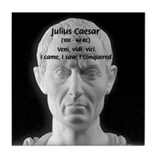 Great Roman: Julius Caesar Tile Coaster