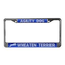 Agility Wheaten Terrier License Plate Frame