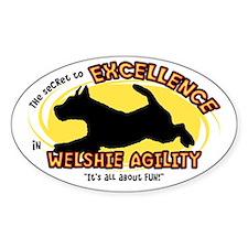 Secret Welsh Terrier Agility Oval Decal
