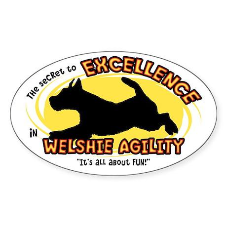 Secret Welsh Terrier Agility Oval Sticker