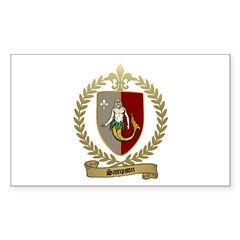 SAMPSON Family Crest Rectangle Decal
