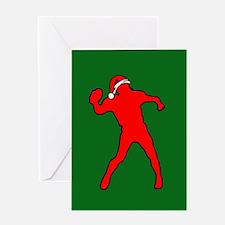 Christmas Quarterback Greeting Card