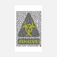 Biohazard Warning Rectangle Decal
