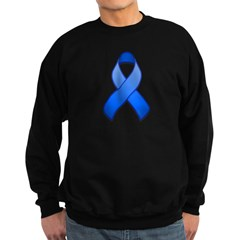 Blue Awareness Ribbon Sweatshirt (dark)