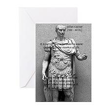 Roman Conqueror: Julius Caesar Greeting Cards (Pac