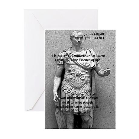 Roman Conqueror Julius Caesar Greeting Cards Pac By