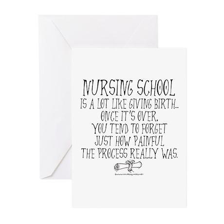 Nursing School like Birth Greeting Cards (Pk of 10