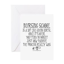 Nursing School like Birth Greeting Card