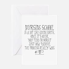 Nursing School like Birth Greeting Card