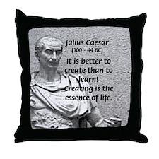 Roman Conqueror: Julius Caesar Throw Pillow