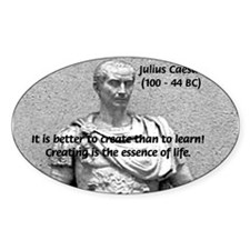 Roman Conqueror: Julius Caesar Oval Decal