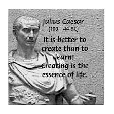 Roman Conqueror: Julius Caesar Tile Coaster