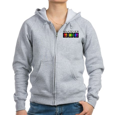 Rainbow Whatever Women's Zip Hoodie