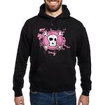 Fishnet Skull Hoodie (dark)