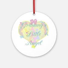 Grammy's Little Angel Ornament (Round)