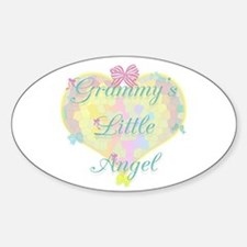 Grammy's Little Angel Oval Decal