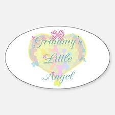 Grammy's Little Angel Oval Stickers