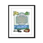 tybee island museum Framed Panel Print