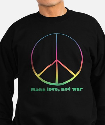 """Make love, not war"" Sweatshirt (dark)"