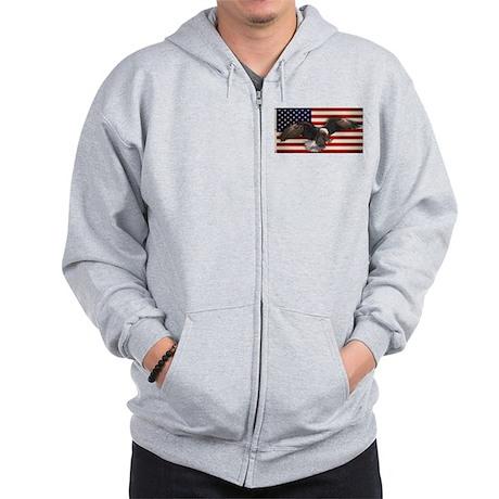 American Flag w/Eagle Zip Hoodie