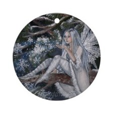 Snowflake Fairy Ornament (Round)