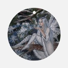 Snowflake Fairy Ornament (Round)