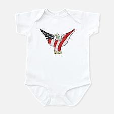 Flagged Eagle Infant Bodysuit