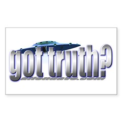 got truth? Rectangle Decal