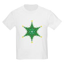 Christmas Snowflake (on white Kids T-Shirt