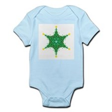 Christmas Snowflake (on white Infant Creeper