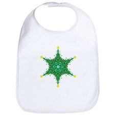 Christmas Snowflake (on white Bib