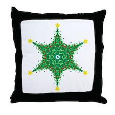 Christmas Snowflake (on white Throw Pillow