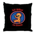 Lil Biker Throw Pillow