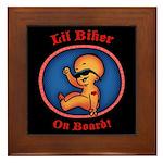Lil Biker Framed Tile