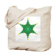 Christmas Snowflake (on white Tote Bag