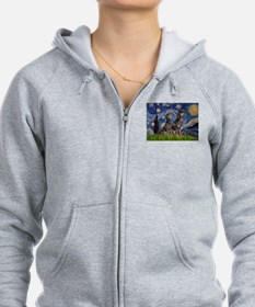 Starry Night & Dobie Pair Zip Hoodie