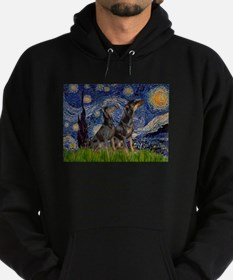 Starry Night & Dobie Pair Hoodie (dark)